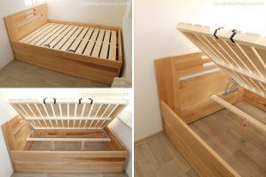 Jednoduchý a funkční vzhled postelí z masivu